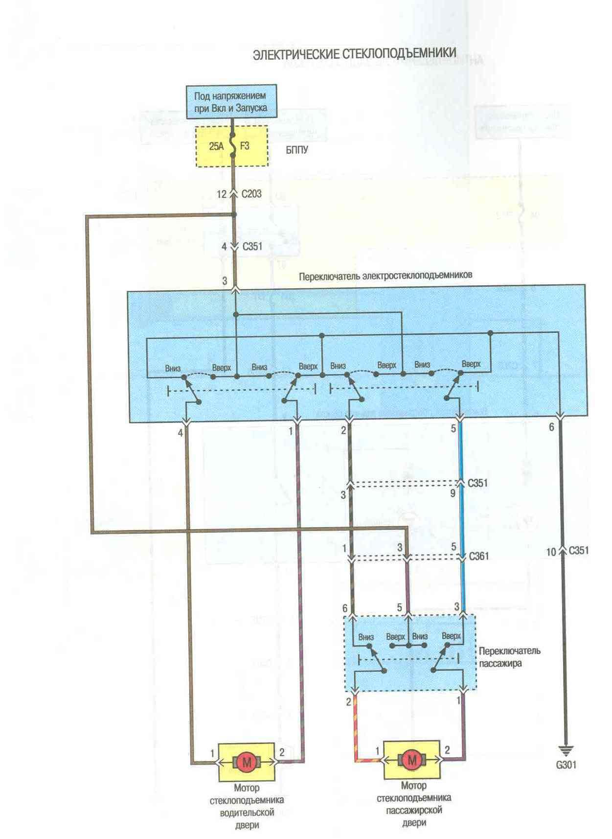 Daewoo Matiz Принципиальные схемы электрооборудования.