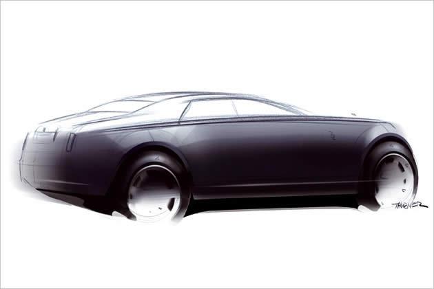 Авто-новости: Rolls-Royce Motor Cars Ltd. обнародовал первые проектные эскизы следующей модели