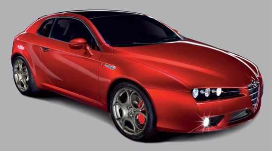 Авто-выставки: Париж-2008: модный автомобиль Alfa Romeo Brera TI в столице моды