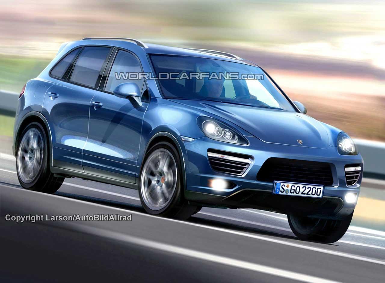 Набросок будущего Porsche Cayenne