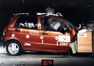 Краш-тест Daewoo Matiz