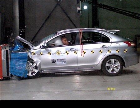 Mitsubishi Lancer X Sportback  на пять (видео)