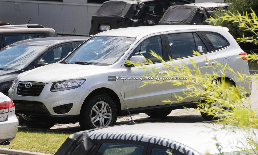 Hyundai Santa Fe Папарацци сделали первые снимки