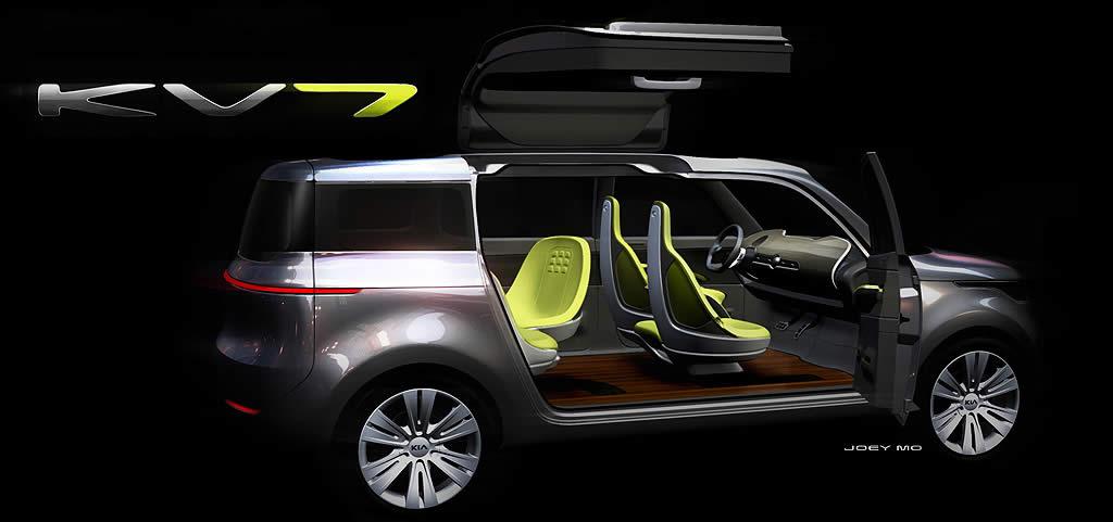 Kia привезет в Детройт концепт-кар KV7