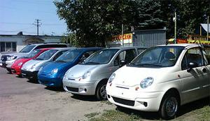 Выбираем цвет автомобиля Daewoo Matiz