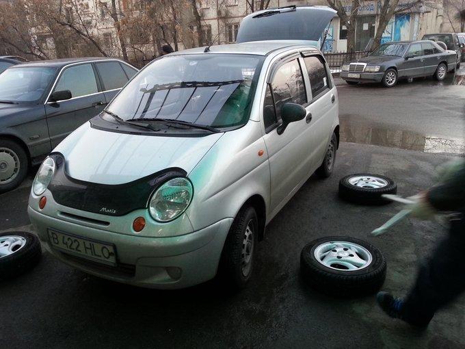замена колес на daewoo matiz