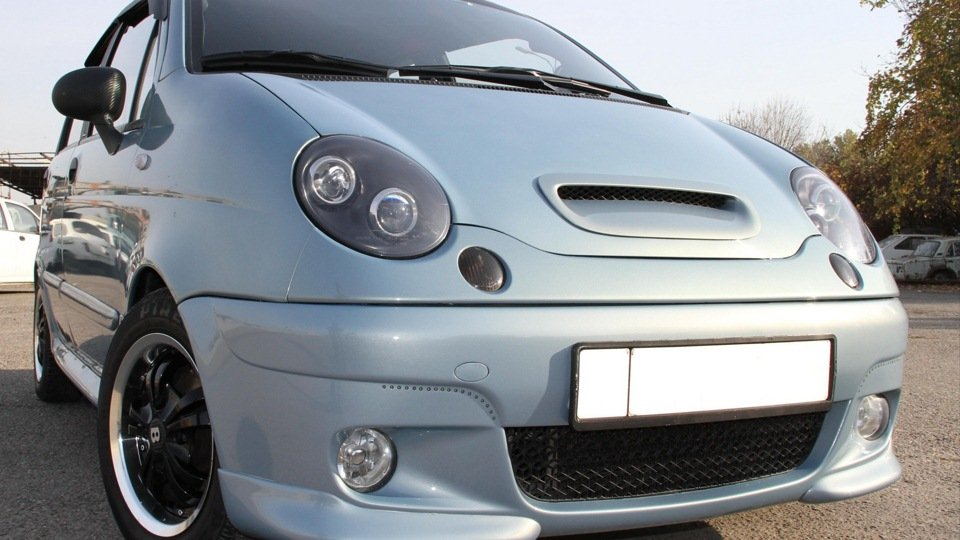 Daewoo Matiz серебристого цвета