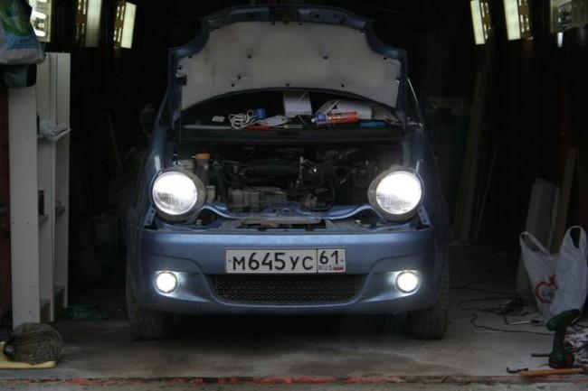 Матиз в гараже