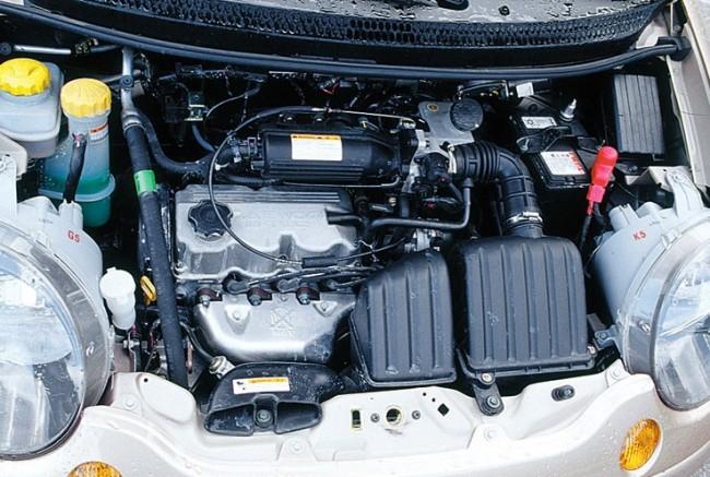 Компоновка двигателя Matiz