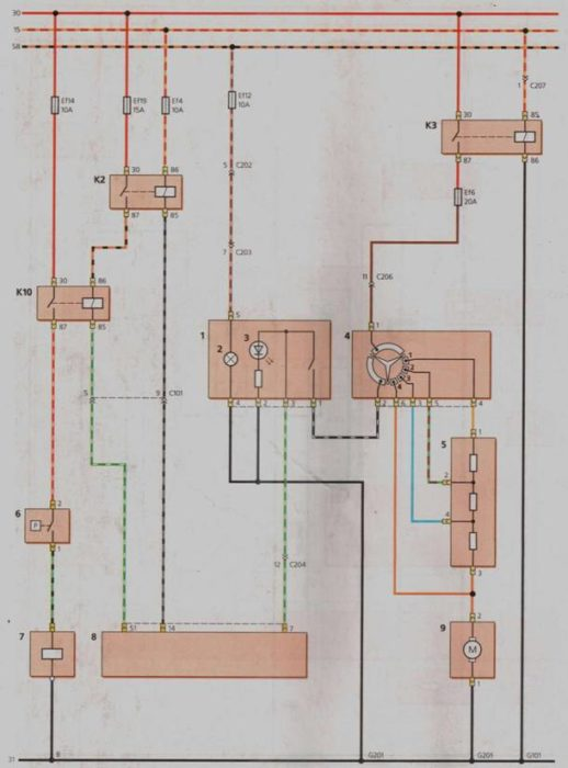 схема включения вентилятора